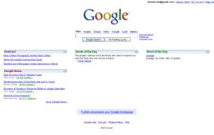 Google Personal home page