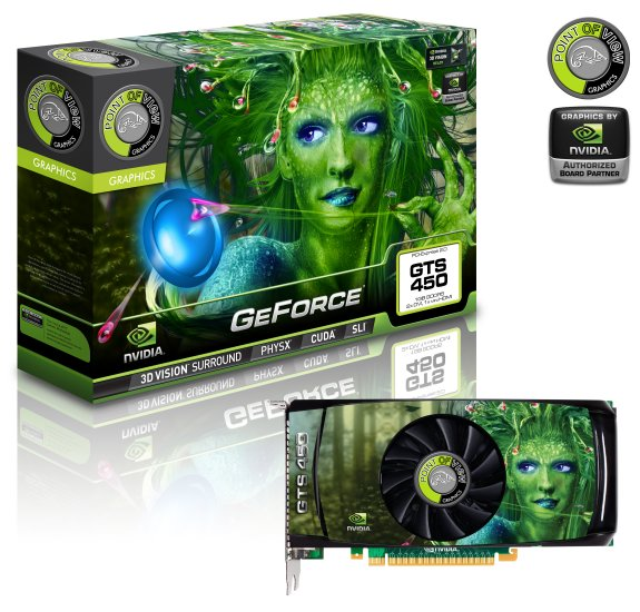Point of View GeForce GTS 450 pixellized