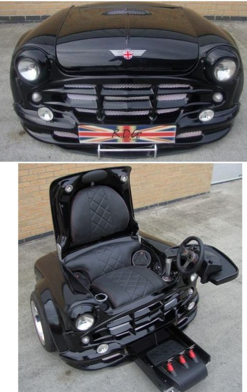 guy turns mini cooper into gaming chair. Black Bedroom Furniture Sets. Home Design Ideas