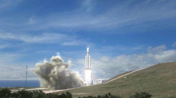 Falcon Heavy artist rendering