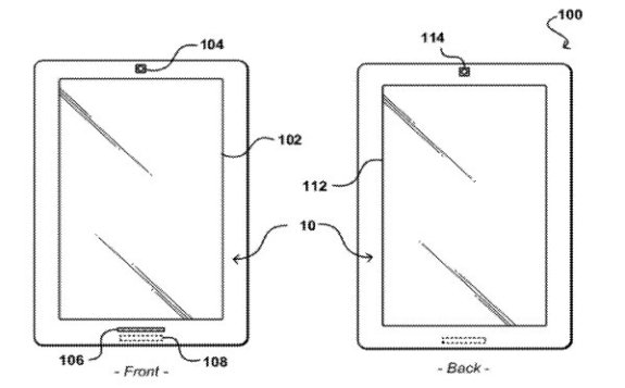 Amazon e-Ink and LCD patent