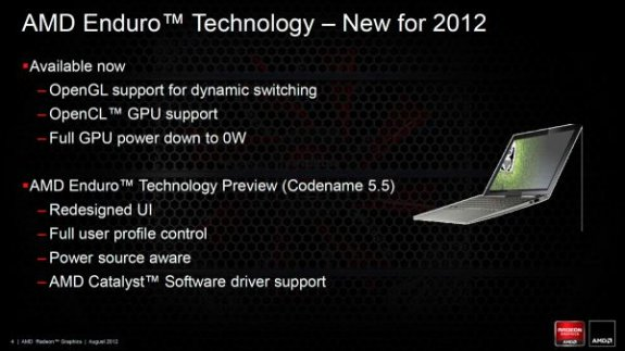 AMD Enduro 2012 update