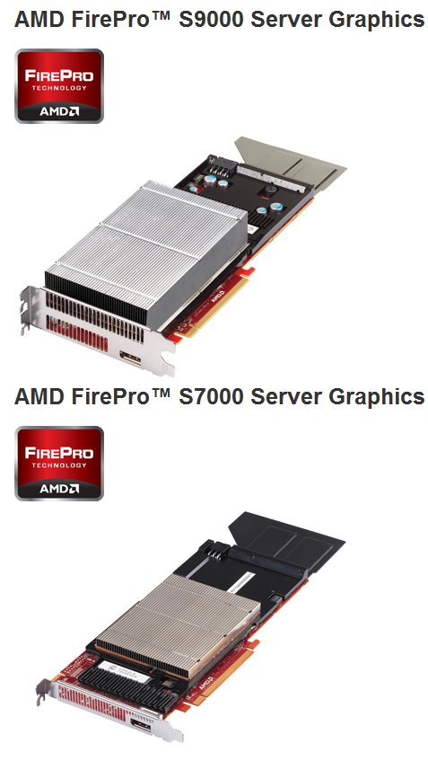AMD FirePro S9000 and S7000