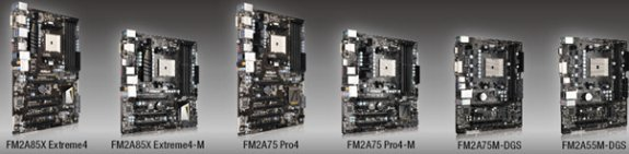 ASRock FM2 Trinity motherboard lineup