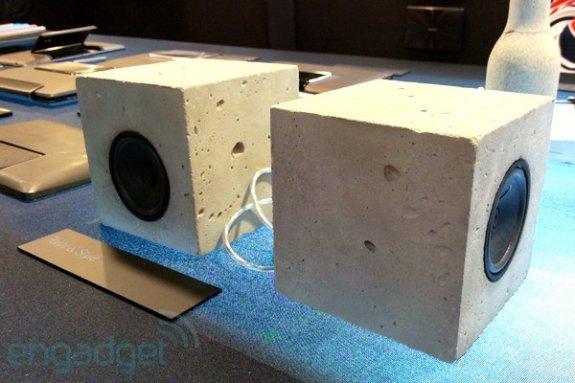 ASUS cement speaker concept