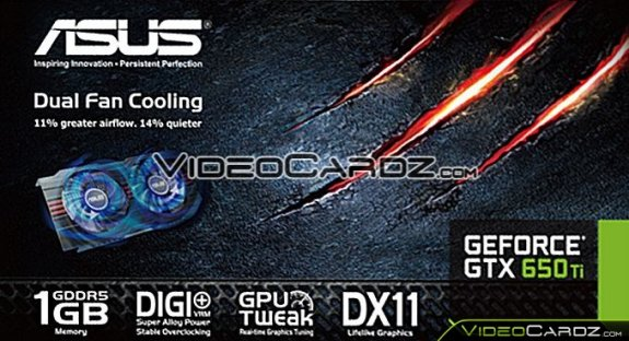 ASUS GeForce GTX 650 Ti leak
