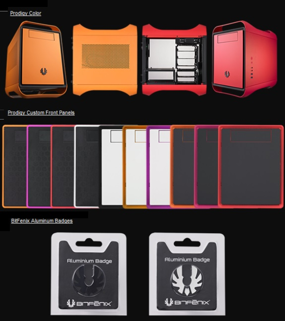 BitFenix Prodigy new colors and front panels