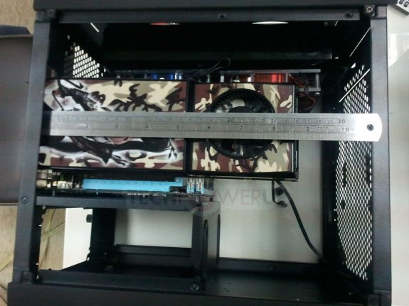 BitFenix Prodigy case pictured with hardware installed