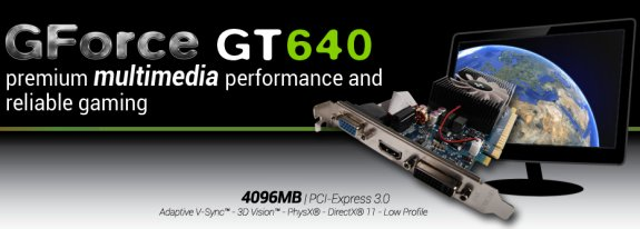 Club3D GeForce GTX 640 LP with 4GB memory