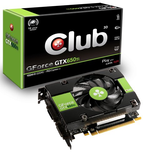 Club3D GeForce GTX 650 Ti graphics card