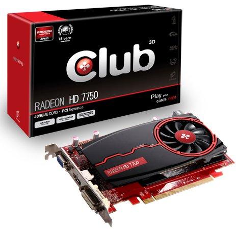 Club3D Radeon HD 7750 with 4GB DDR3
