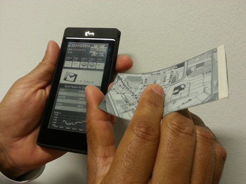 Smartphone with two screens E Ink and LCD