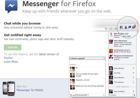 Firefox Facebook Messenger