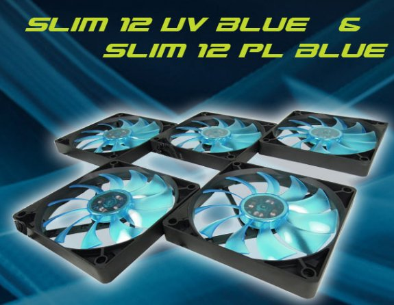 Gelid Slim 12 UV Blue and Slim 12 PL Blue