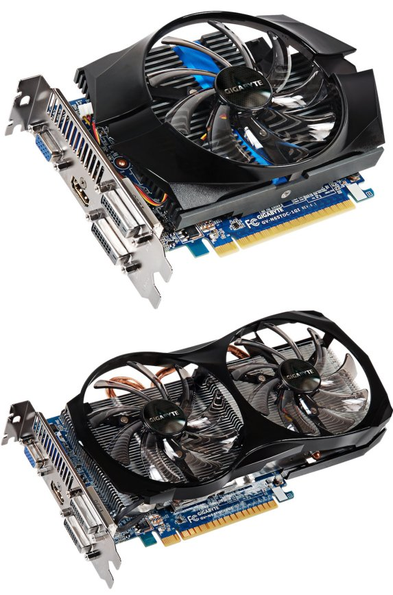 Gigabyte GeForce GTX 650 Ti graphics cards
