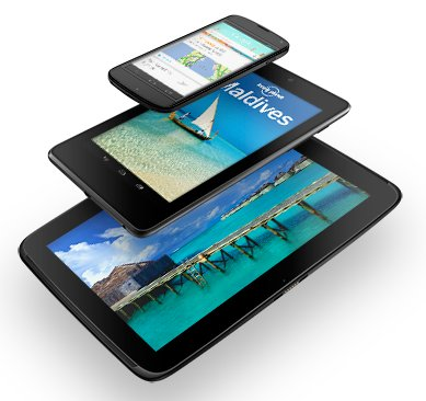 Google Nexus three new devices