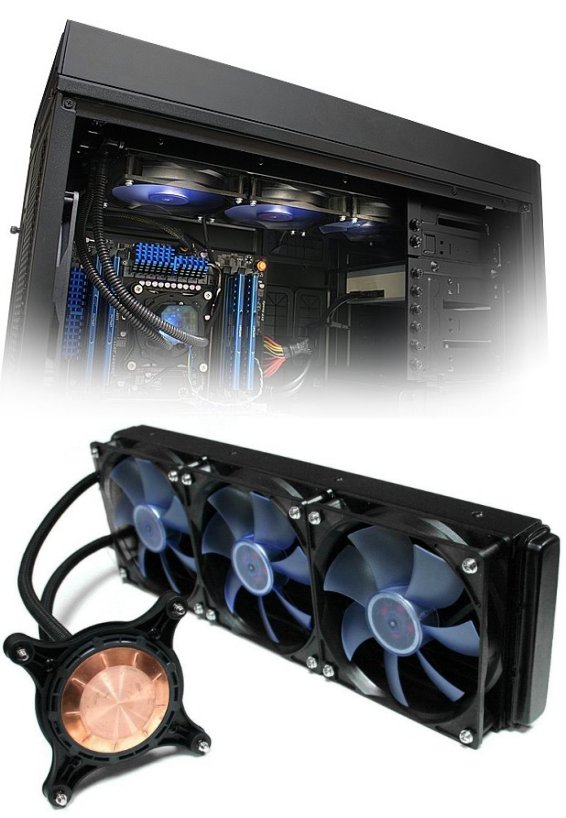 iBuypower triple-radiator liquid cooling