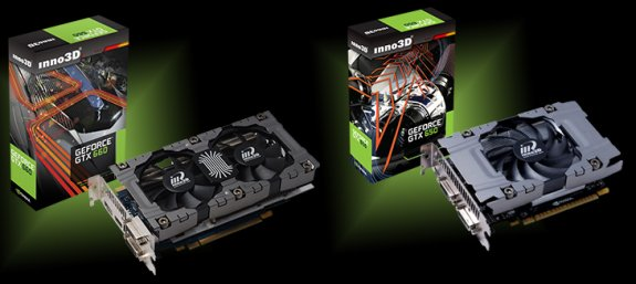 Inno3D GeForce GTX 650 and 660