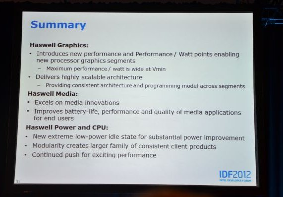 Intel Haswell improvements