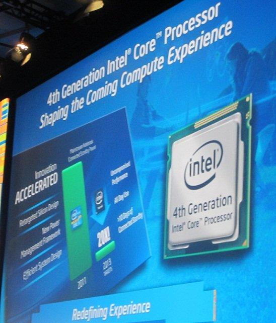Intel IDF Haswell slide