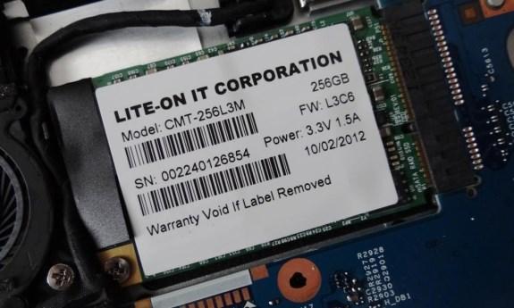 Lite-On mSATA 256GB dual-module SSD