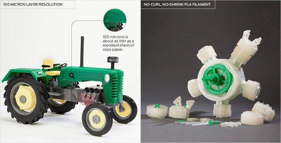 Makerbot 3D printing examples