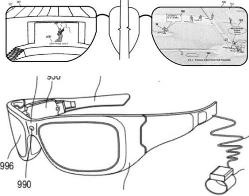 Microsoft glasses patent