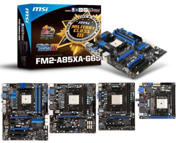 MSI FM2-A85XA-G65 motherboard and other FM2 series