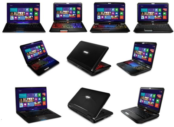 MSI Windows 8 laptop lineup