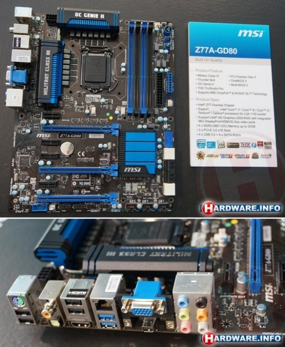 Motherboard with Thunderbolt Port