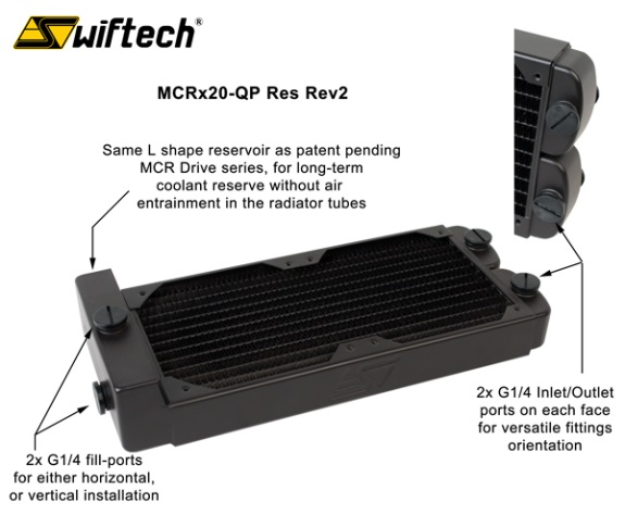 Swiftech MCRx20-QP radiator revision 2
