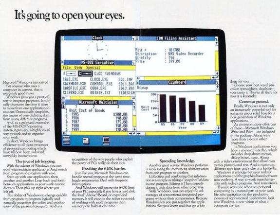 Windows 1.0 ad