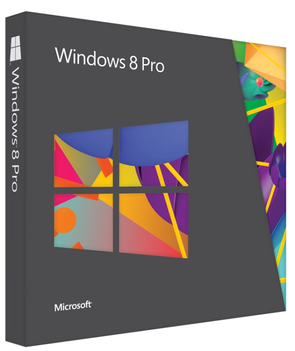 Windows 8 Pro physical package