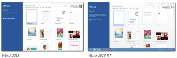 Microsoft Word 2013 RT