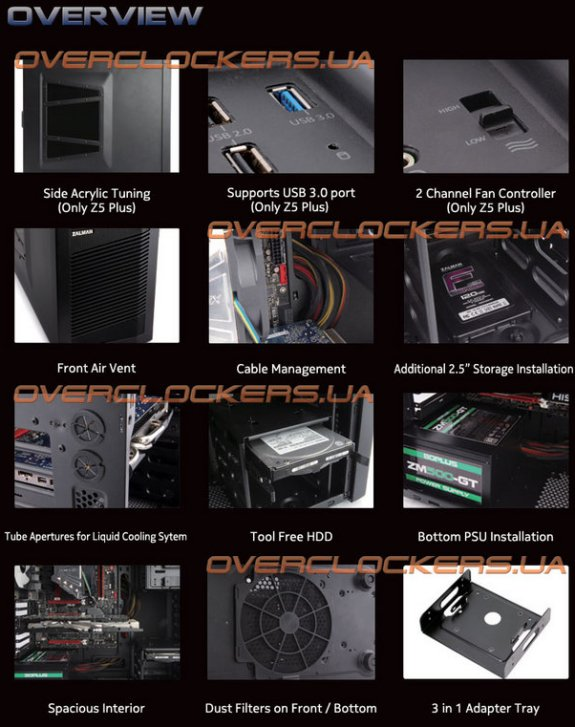 Zalman Z5 features