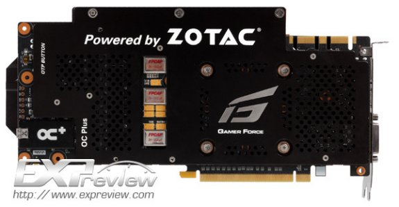 Zotac GeForce GTX 660 Ti Extreme rear