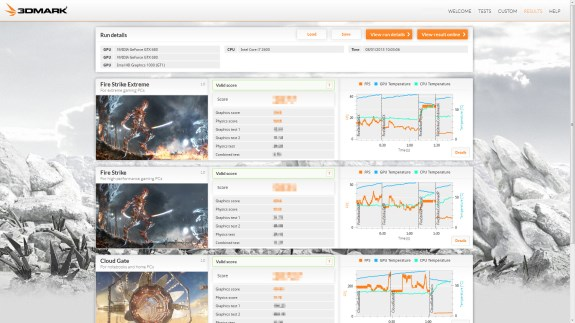 3DMark results picture