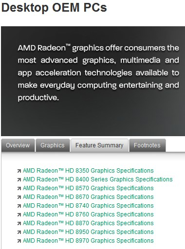 AMD Radeon HD 8000 for OEMs