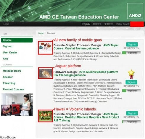AMD education center page