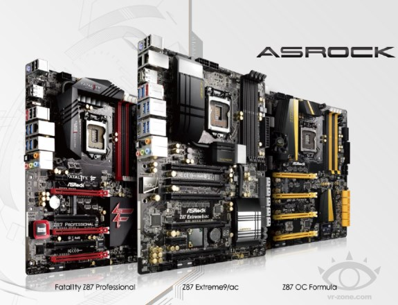 ASRock Z87 series lineup revealed