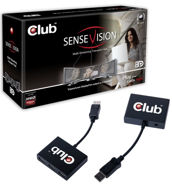 Club3D Multi Stream Transport Hub