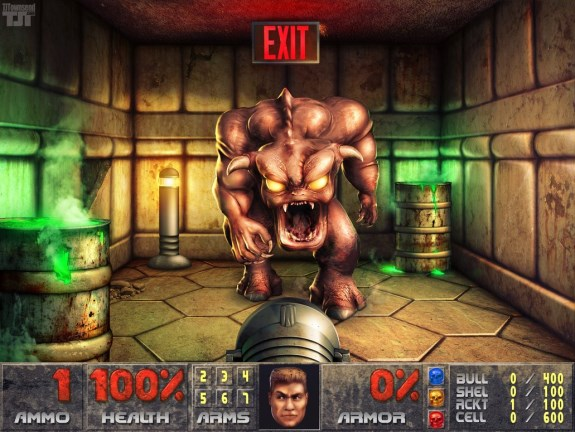 Doom remastered to 9600 x 7211