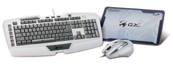 Genius white gaming gear