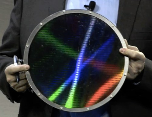 HP memristor wafer