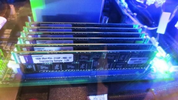 Kingston DDR4 at IDF