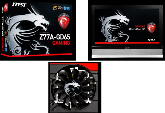 MSI gaming dragon products at CeBIT