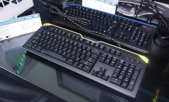 MSI mechanical keyboards at CES