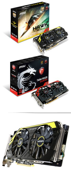 MSI R9 and R7