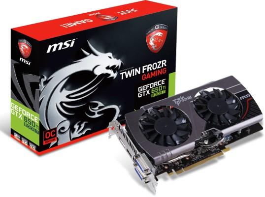 MSI NVIDIA GeForce GTX 650 Ti Boost