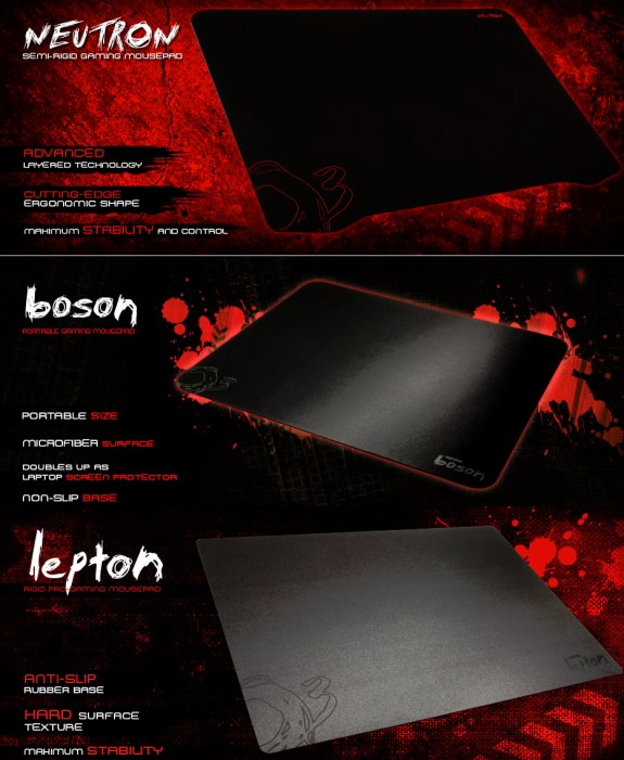 Ozone Neutron Lepton and Boson mousepads